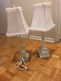 white and pink floral table lamp Mississauga, L5A