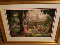 Thomas Kinkade painting of Disney Princes