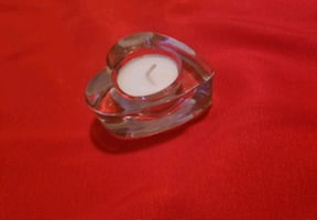 Heart-Shaped Glass Candle Holders