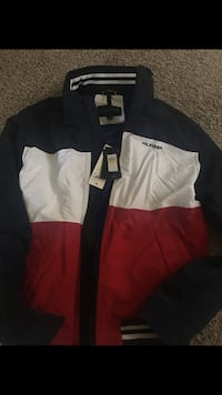 red, white, and blue TOMMY HILFIGER zip-up jacket Commerce City, 80022