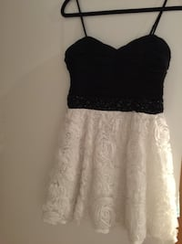 Sequin black & white dress