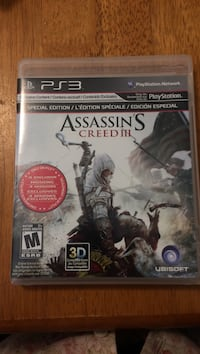 PS3 Assassin's Creed 3 case