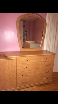 brown wooden dresser with mirror Laval, H7G 0B6