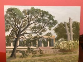 Peristyle in New Orleans City Park painting