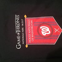 Washington Nationals Game of Thrones shirt - NEW Centreville