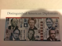 USPS 39c Distinguished American Diplomats stamp-sheet of 6, 14 total