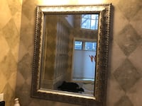 Rectangular rustic gold  framed mirror Edgewater, 07020