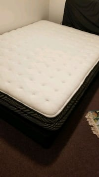 white and black bed mattress    with spring box  Newmarket