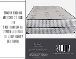 SUPER COMFY 10 inch  FOAM MATTRESSES ON SALE NOW