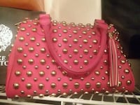 women's pink  leather tote bag with studs. Ocala, 34472
