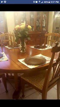 Table, 6 Chairs, 2 piece hutch, and table pads inc College Station, 77845