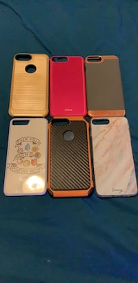 6 assorted color and design iPhone 7+ cases Colorado Springs, 80905