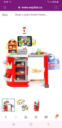Little Tikes Shop 'n Learn Smart Checkout grocery