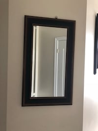 Wall mirror with black and gold wooden angular frame Mississauga, L5W 0E8
