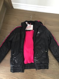 Black Adidas winter jacket Oakville, L6L 0Y9