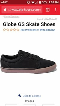 New never worn globe gs skate shoes size 9.5