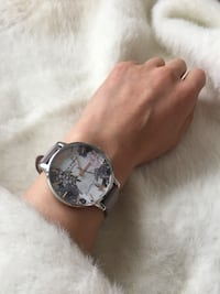 Olivia Burton Marble Floral Leather 6092 km
