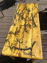 Fractal burned coffee table  built to suite Pittsburgh, 15219