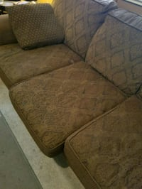 brown wooden framed beige padded sofa Turlock, 95380
