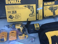 Dewalt cordless drill brand new with 2 brand new batteries n charger the impact wrench is separate it's 80$