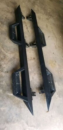 Jeep jk running board with side steps
