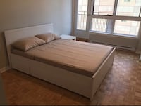 White and gray bed frame Montreal, H3G 2H7