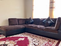 Brown couch sofa
