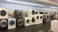 Washers and dryers with warranty - 1 year parts and labour  Toronto, M3J 3K7