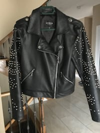 Leather stud jacket by Guess Marciano Size Medium Brand New Condition Vaughan, ON, Canada