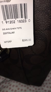 Brand new coach shoulder purse  price tag is still attached Leesburg, 20176