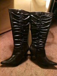 By Delicious women's leather high heeled boots Fort Wayne