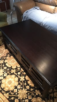 Dark Wood Coffee Table 22 mi