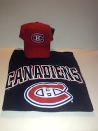 Montreal Canadiens T shirt Size L/XL and Formed Brim Adjustable Cap  London, N6G 2M5