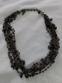 Black Crochet beaded necklace