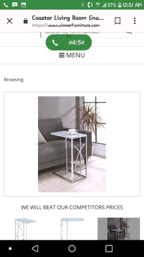 Side portable table