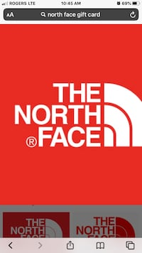 North Face Gift Card @25% DISCOUNT Toronto, M5J 1Z1