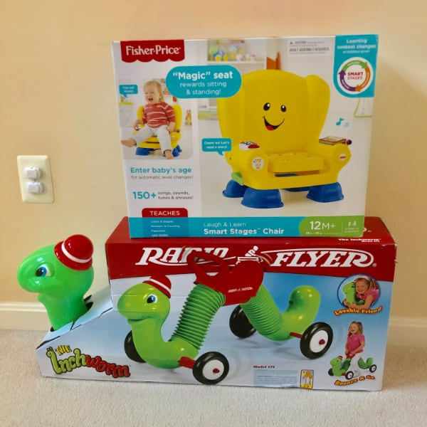 Radio Flyer Ride On + Fisher Price Smart Stages Chair (New in Boxes)