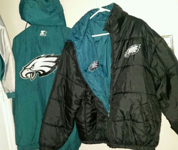 buy online e5879 77bac EAGLES FANS 3 JACKETS AND MILITARY HOODIE