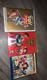 Brand new and used toy story trilogy set 3 blu Ray dvds bundle lot