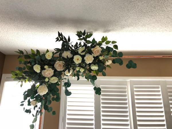Rental arch with artificial flowers and greenery  b3b2b5f5-739a-4d75-aa60-f64e2f39f9a0