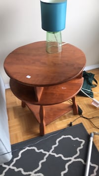 Wood End Table, fold out side Toronto, M6P 2R8