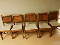 5 solid wood dinning chairs Caledonia, N3W 2K3