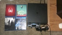 Ps4 slim 1tb 2 controllers 4 games. Need sold today  Albuquerque