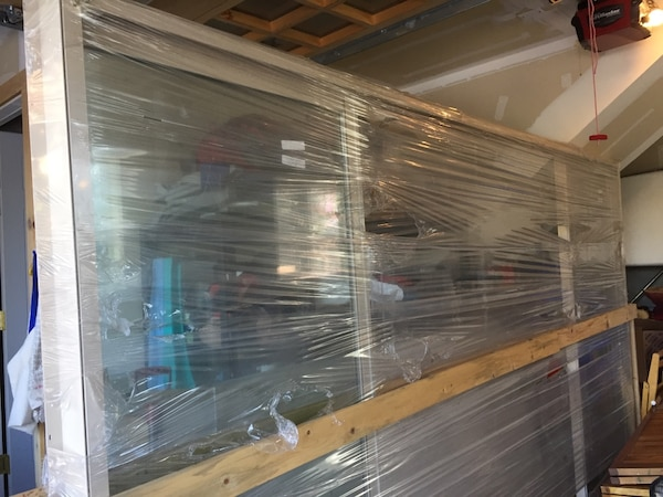 Used AMSCO X Sliding Glass Door Four Panels Vinyl For Sale In - Glass floor panels for sale
