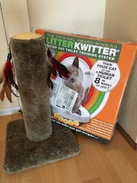 cat toilet training kit and scratcher 3748 km