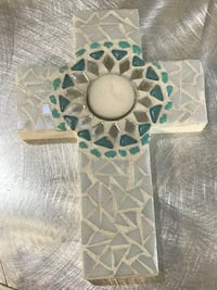 Shell Hand crafted cross and candle both Laurel, 20708