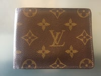 Brown Leather Louis Vuitton Bifold Wallet