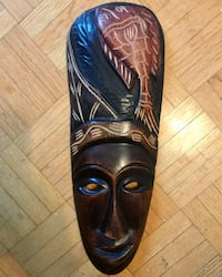 Hand carved wood mask from Jamaica Торонто, M2N 1H7