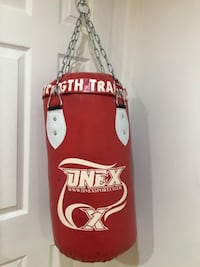 New strength training pre filled punching bag.
