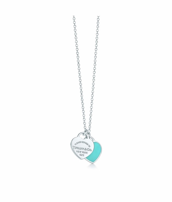 26842459bd0f Used BRAND NEW Tiffany   Co. Mini Double Heart Tag Pendant. for sale ...